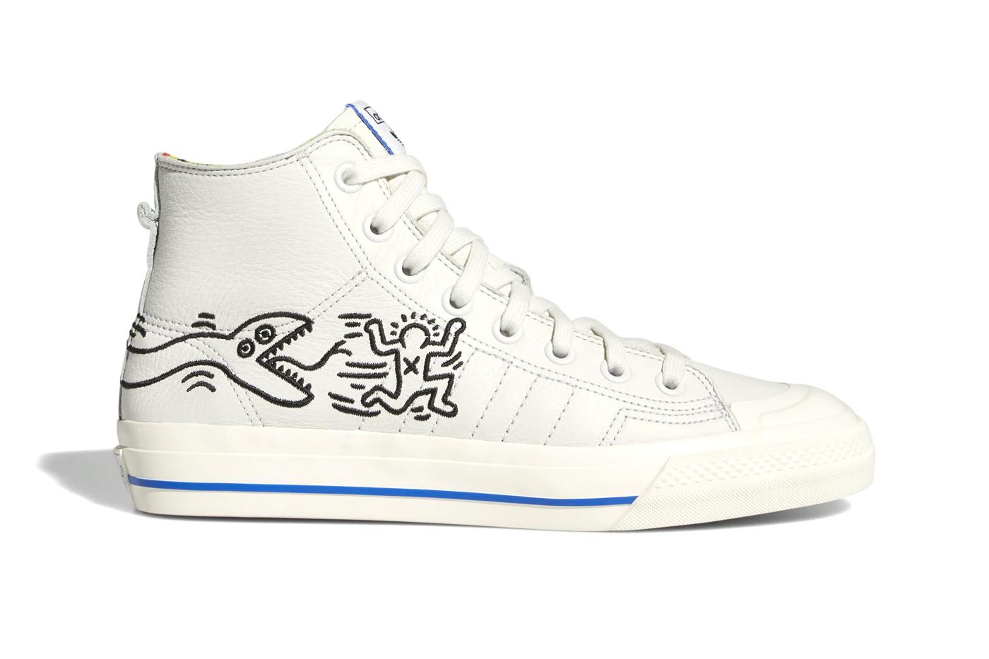 Blancas Y Azul Claro Adidas Adornar Originals Stan Smith