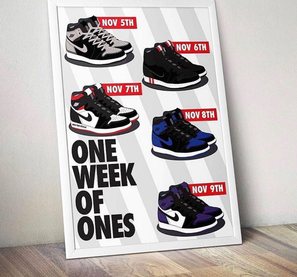 a5a05cf79af5 JORDAN ONE exclusivas en noviembre  one WEEK of ONES – WAG1 MAGAZINE