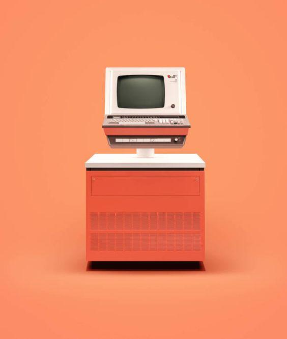 orange-computer-vintage-wag1mag Vía Pinterest