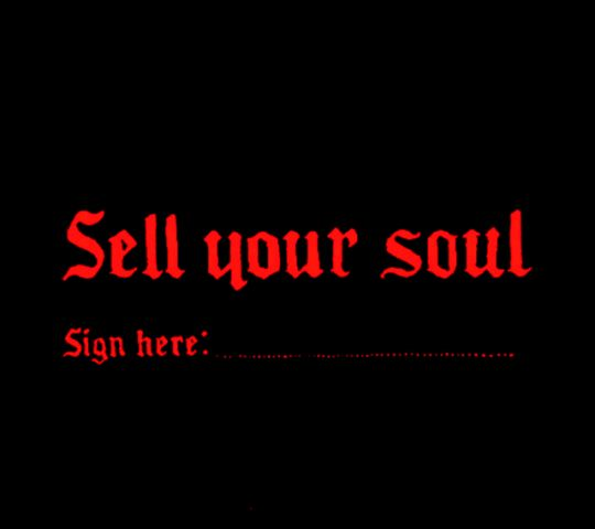 sell-your-soul-wag1mag Vía Pinterest