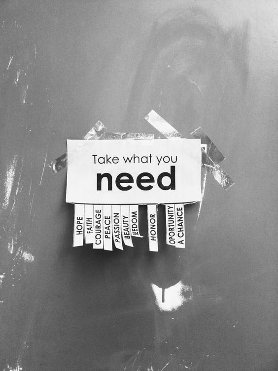 take-what-you-need-wag1mag Vía PInterest